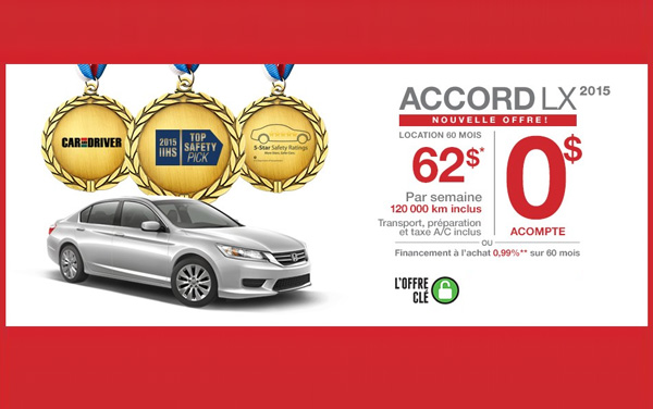 Promotions Honda Accord Berline Rive-Nord